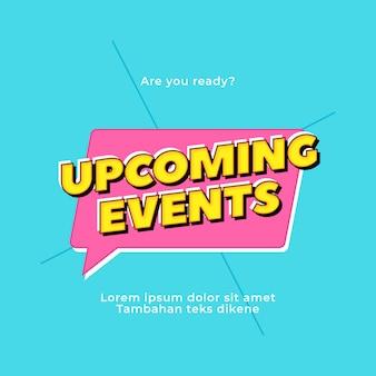 Popstijl aankomende evenementen