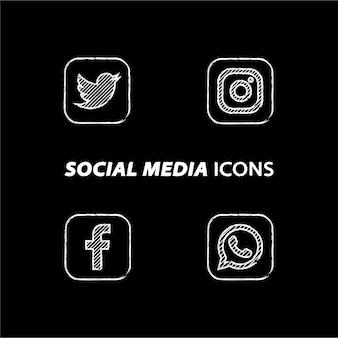 Populaire sociale media pictogrammen
