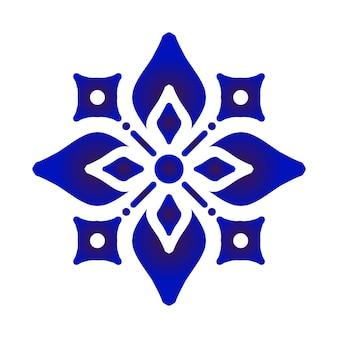 Porseleinen bloem element