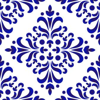 Porseleinen decoratief patroon