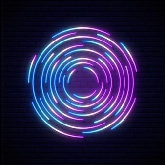 Portaal neon teken.
