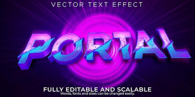Portaalteksteffect, bewerkbare teleport en toekomstige tekststijl