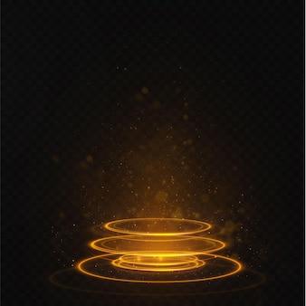 Portal set lichteffect hologram