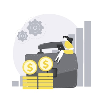 Portefeuille-inkomen abstract concept illustratie.