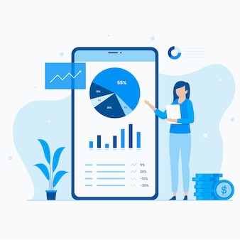 Portefeuille-investeringen illustratie concept