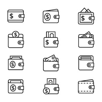 Portemonnee iconen pack