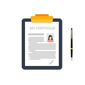 Portfolio van een zakenvrouw