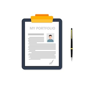 Portfolio van zakenman