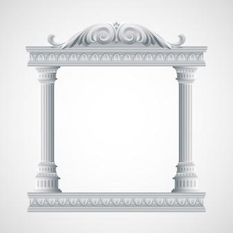 Portiek een oude tempel. kolommen illustratie