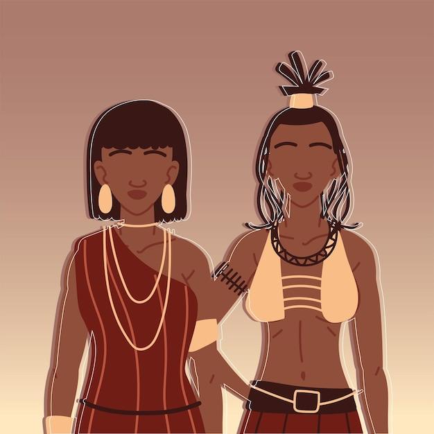 Portret inheemse vrouwen