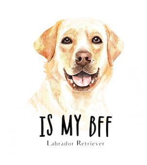 Portret labrador retriever voor afdrukken