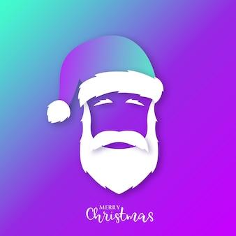 Portret van de kerstman in felle kleuren
