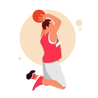 Portret van een man die basketbal speelt