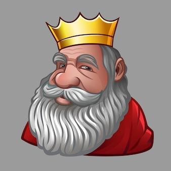 Portret van koning met kroon