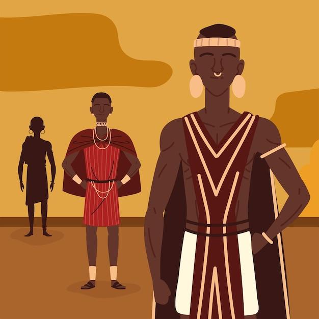 Portretten van afrikaanse aboriginals