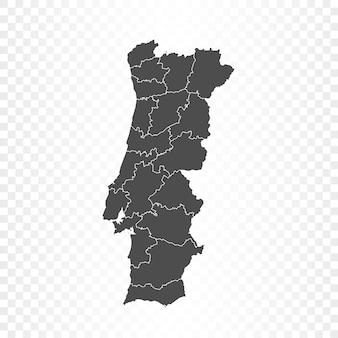 Portugal kaart geïsoleerde weergave