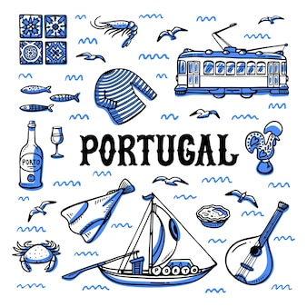 Portugal oriëntatiepunten ingesteld.