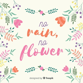 Positief bericht met bloemen