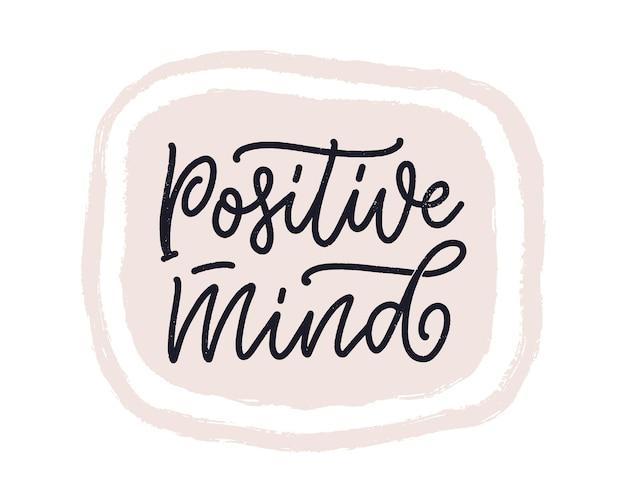 Positieve belettering slogan met doodle elementen grappig citaat voor blogposter