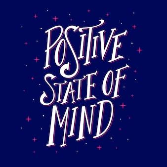 Positieve geest belettering