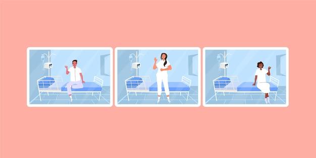 Positieve patiënten die coronavirus bestrijden