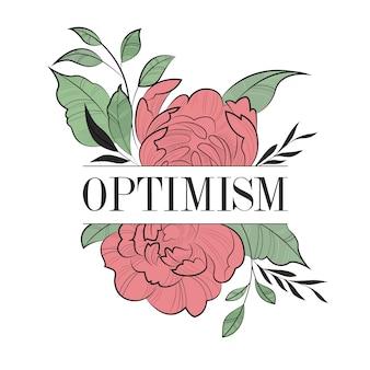 Positieve typografie met bloemen