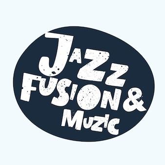 Positieve typografische banner ik hou van jazz versierd met muziekelementen notities saxofoon abstracte liefde ...