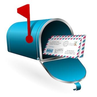 Post en e-mailconcept