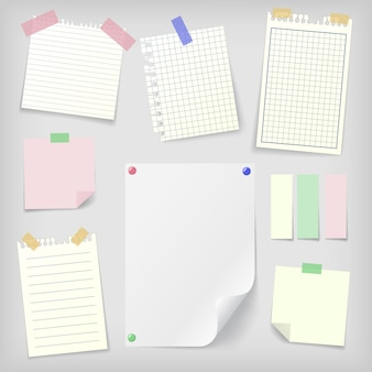 Post-it set plaknotities en notitieboekpapier