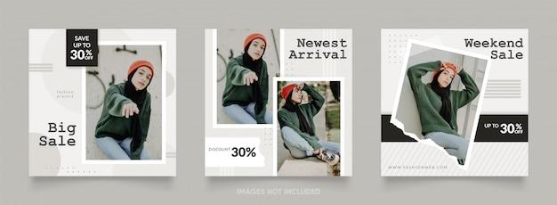 Post sjabloon voor mode verkoop banner