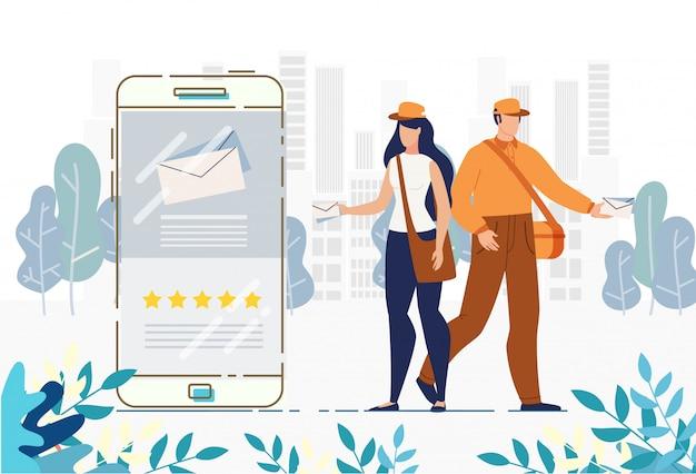 Postbezorging voor het volgen van bestellingen mobiele app