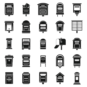 Postbus post pictogrammen instellen