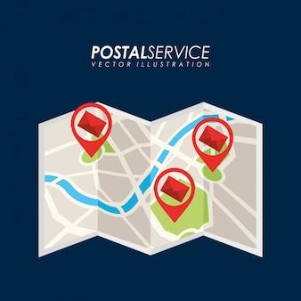 Postdienst ontwerp