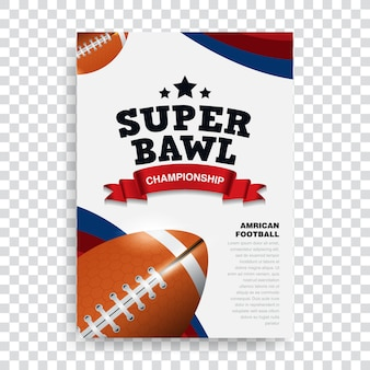 Poster amerikaans voetbal
