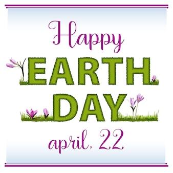 Poster, banner of briefkaart voor de internationale dag van de aarde