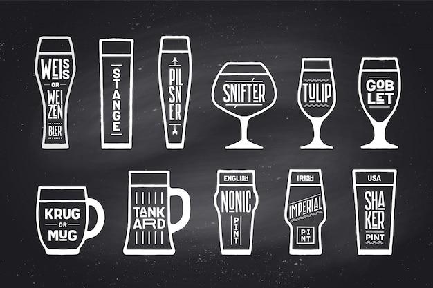 Poster bierglaswerk soorten