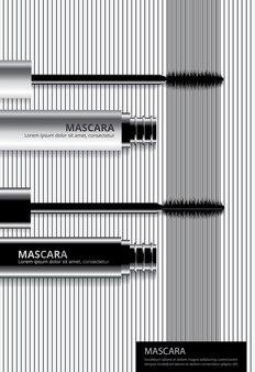 Poster cosmetische mascara met verpakking