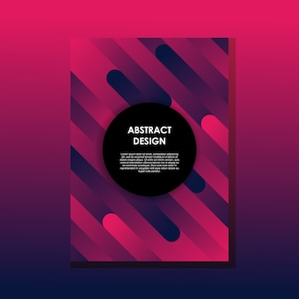 Poster cover ontwerpsjabloon met geometrische abstract