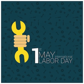 Poster dag van de arbeid