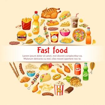Poster fastfood.