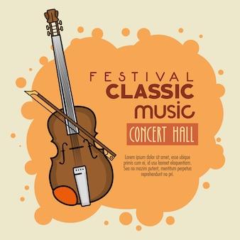Poster festival klassieke muziek icoon