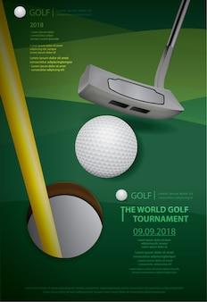Poster golf championship vector illustratie