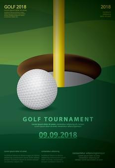 Poster golf championship vectorillustratie