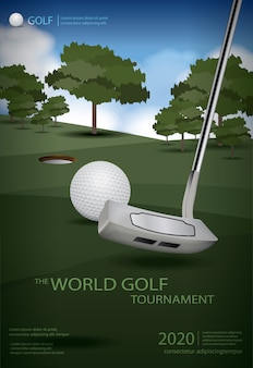 Poster golf kampioen sjabloon