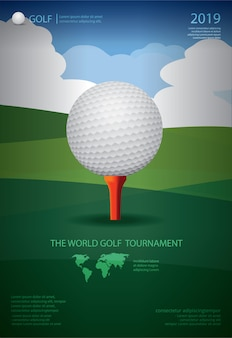 Poster golfkampioenschap