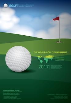 Poster golftoernooi kampioenschap illustratie