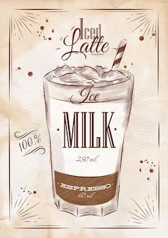 Poster ijs latte krijt