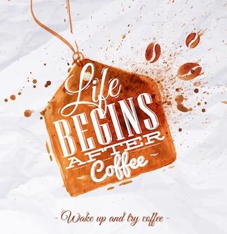 Poster koffievleketiket