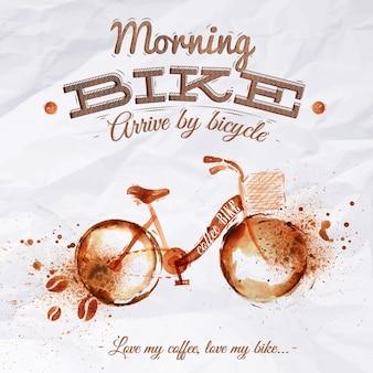 Poster koffievlekfiets