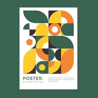 Poster met abstracte geometrische achtergrond